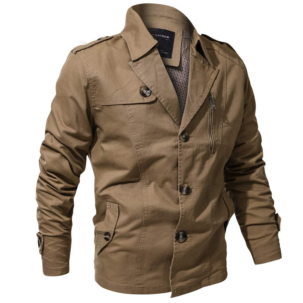 Amazon.com: Clearance Forthery Mens Casual Military Jacket Button Down Outwear Coat: Clothing