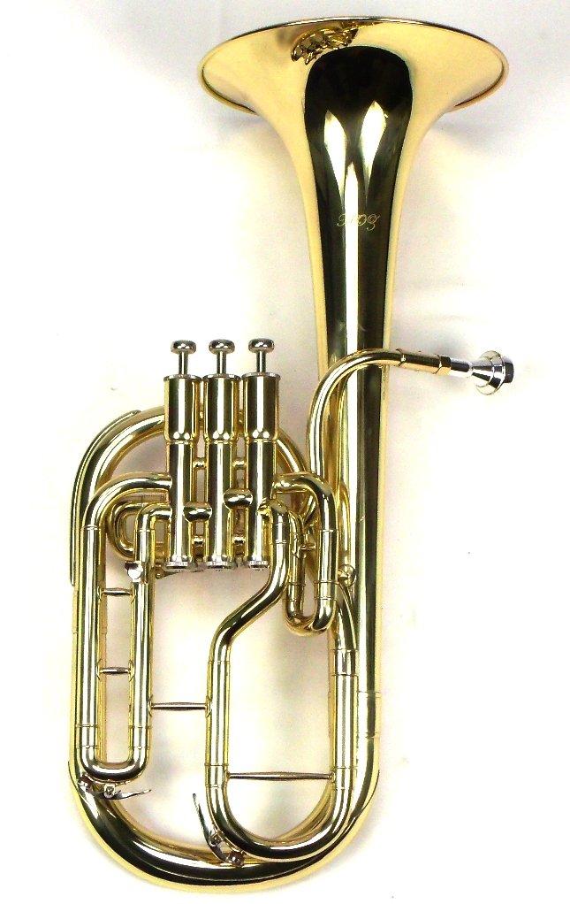 Intermediate Monel Pistons Alto Horn w/Case & Mouthpiece-Gold Lacquer Finish by Moz