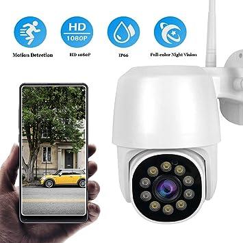 Opinión sobre Cámara PTZ Vigilancia Exterior WiFi, Cámara IP Exterior IP66 Impermeable Seguridad Inalámbrica Cámara HD 1080P IR Vision Nocturna Detección de Movimiento Audio Bidireccional