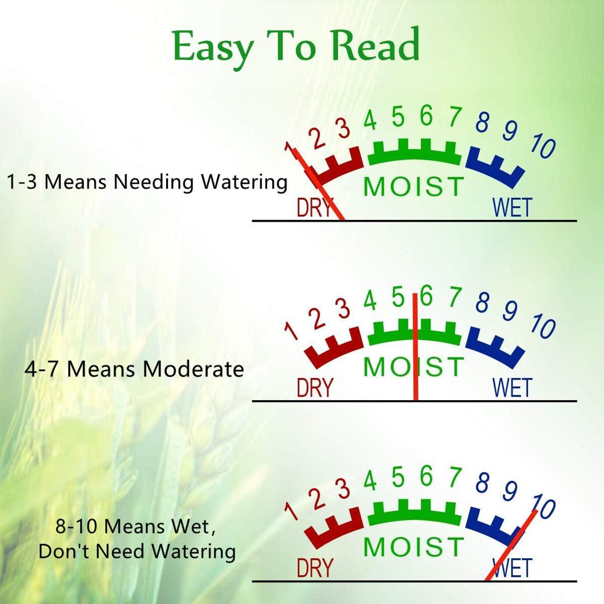 Censinda Bodenfeuchtigkeitsmessger/ät Bodenwasser-Monitor f/ür Bauernhof//Rasen//Innen-//Au/ßenpflanzen Hygrometer Garten-Feuchtigkeitssensor