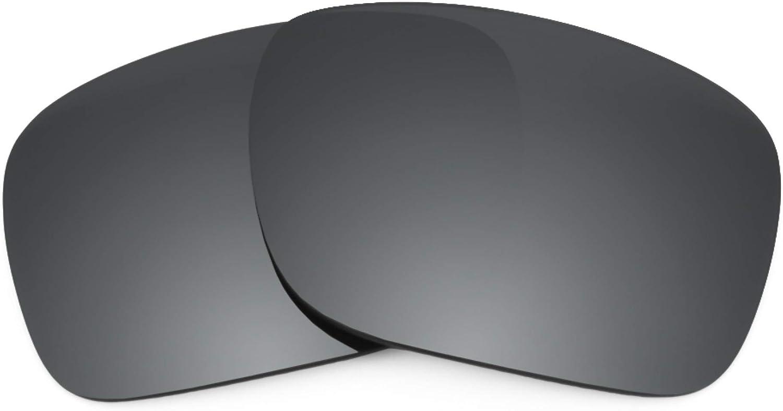 Revant Verres de Rechange pour Oakley Breakpoint - Compatibles avec les Lunettes de Soleil Oakley Breakpoint Chromé Noir Mirrorshield - Polarisés Elite