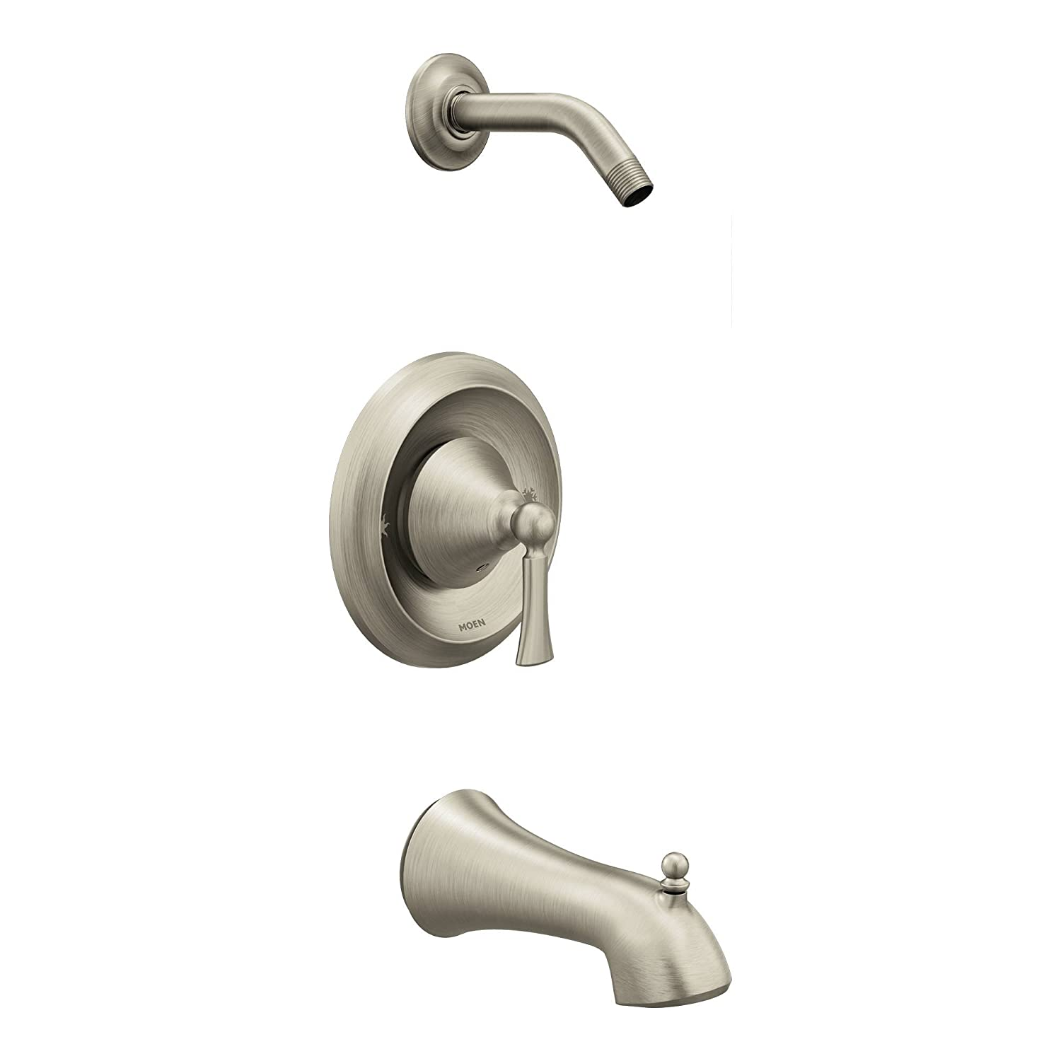 Moen T4503NHBN Wynford Posi-Temp Tub//Shower Trim without Shower Head Brushed Nickel Moen Incorporated