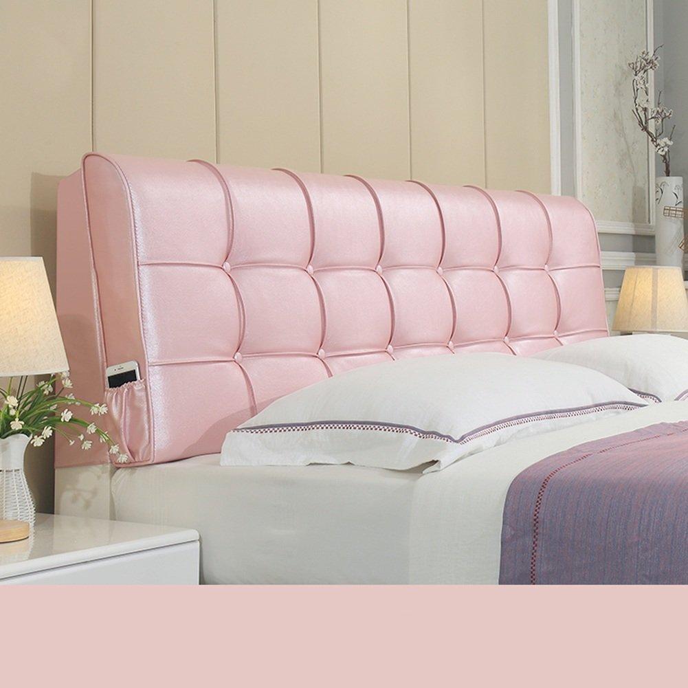 LIXIONG ヘッドボードクッション ベッドサイドソフトパッケージ 枕 シングルまたはダブル 大型背もたれ 頚椎 パッド ウエストパッド 、ベッドサイドカバー 8色、8サイズ (色 : ピンク ぴんく, サイズ さいず : 150*58cm) B07BQFKPCV 150*58cm|ピンク ぴんく ピンク ぴんく 150*58cm