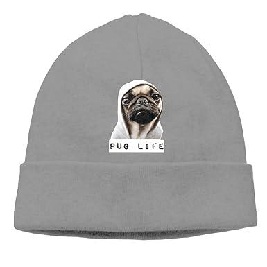 Amazon.com  Pug Life Youth Cool Beanie Hat Cap Winter Hat  Clothing c7e30e95ff7