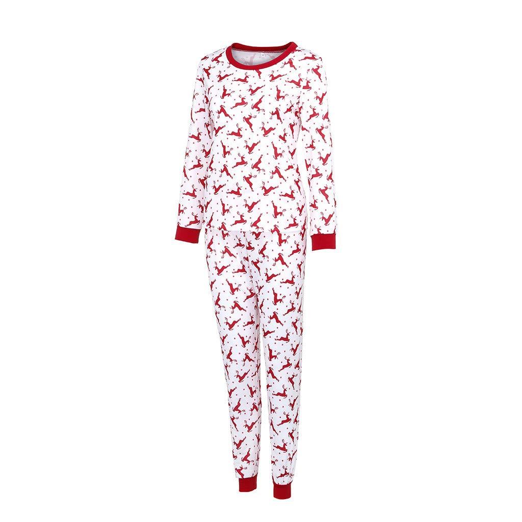 YunZyun 2 Piece Christmas Pajama Sets Matching Family Cartoon Pjs Sleepwear