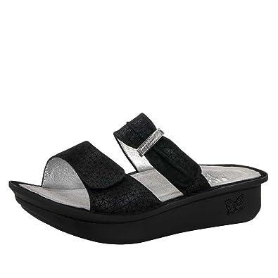 Alegria Women's Karmen Black Wavy Sandal (KAR-663) Size: Euro ...
