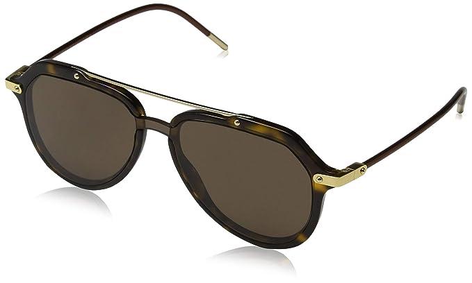 Amazon.com: Dolce & Gabbana Prince DG 4330 Havana/marrón 22 ...