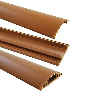Canaleta para cables de suelo (1 m, autoadhesiva, 4 mm de ancho), color marrón: Amazon.es: Bricolaje y herramientas