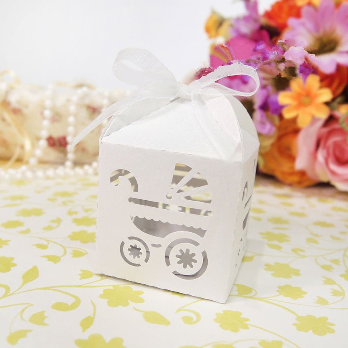 Amazon.com: OULII Favor Candy Sweets Gift Boxes Baby Shower Wedding ...
