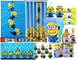 Minions Movie Exclusive 16 Piece Jumbo Children's Bathroom Gift Set Includes Minions Bath Towel, Minions Shower Curtain, Minions Wastebasket, Minions Shower Hooks, Bath Rug & More !