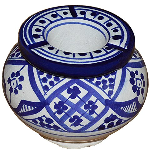 Moroccan smockless hand made Ashtray by Ceramic Ashtrays