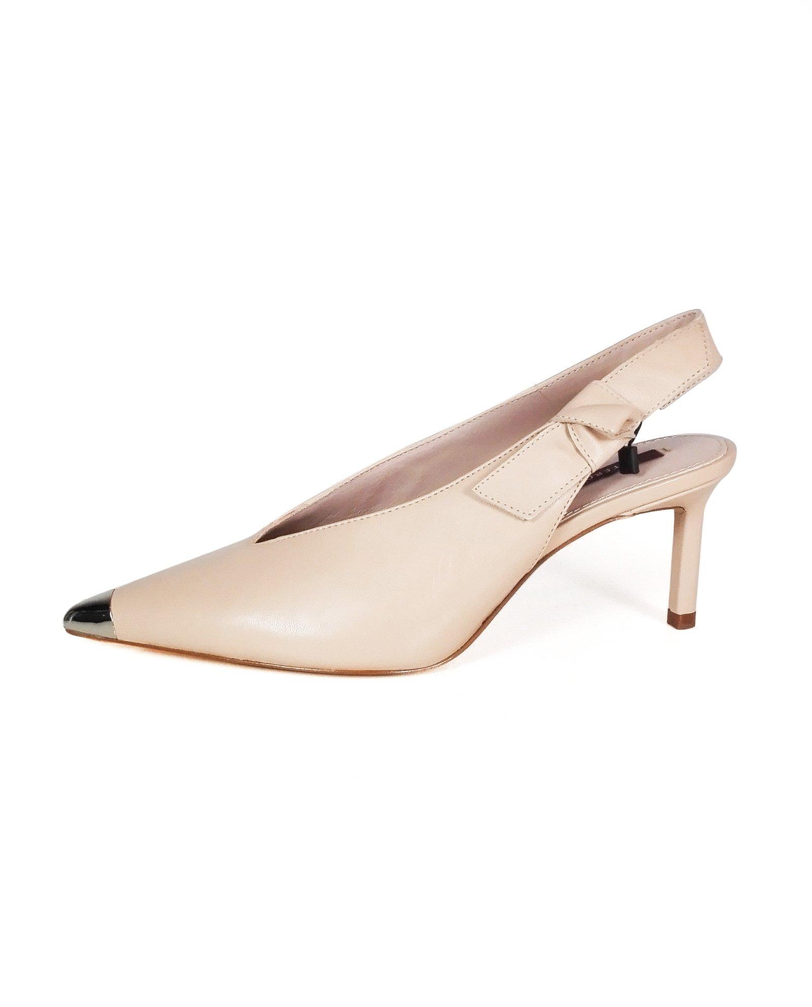 Uterque Women Slingback shoes with metal toe detail 4041/351 (38 EU | 7.5 US | 5 UK)