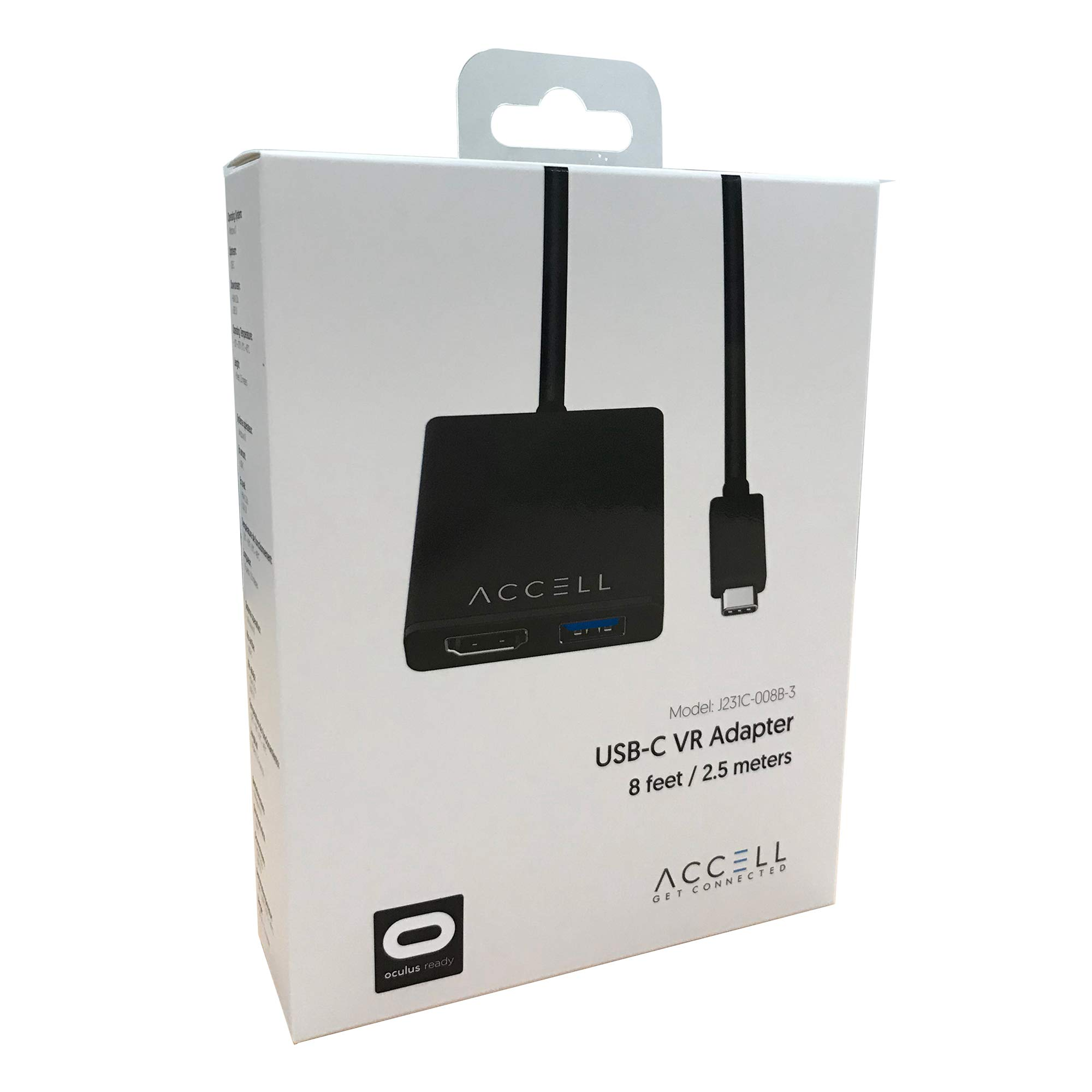 Accell USB-C VR Adapter - USB-C to HDMI & USB Compatible with Oculus Rift, HTC Vive, and Windows Mixed Reality Headsets including Samsung Odyssey+ Dell Visor Lenovo Explorer HP Acer & Asus WMR by Accell (Image #6)