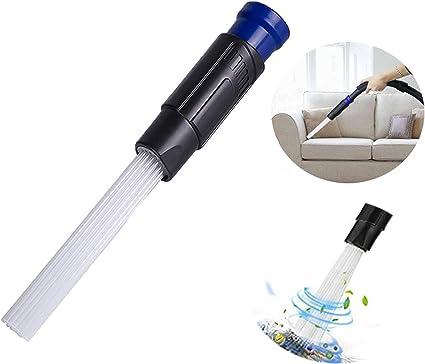 Nifogo Limpiador Cepillo de Polvo, Vacío Universal para Respiraderos/Teclados/Cajones/Automóvil/Artesanías/Joyería/Plantas (Azul)