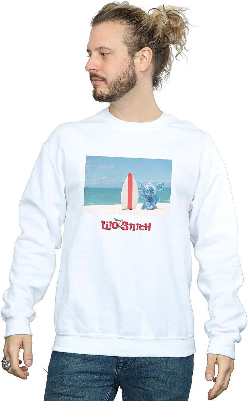 Disney Hombre Lilo & Stitch Surf Beach Camisa De Entrenamiento: Amazon.es: Ropa y accesorios