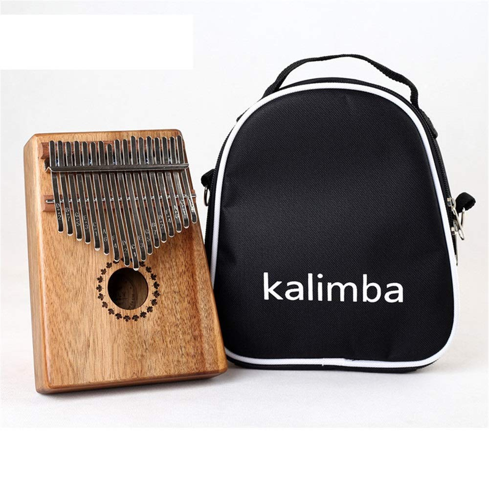 African Thumb Piano Standard C Tune 17 Keys Kalimba Natural Wood Finger Piano Metal Engraved Notation Tines With Tuning Hammer Pickup Carry Bag African Musical Instrument Kids Gifts for Music Lover Be