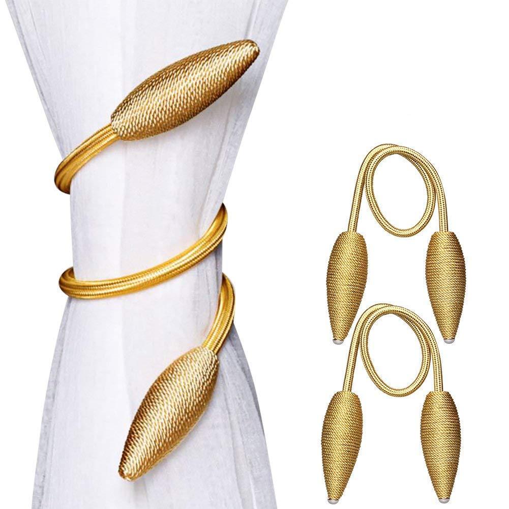 YIDIE Curtain Holdback,Set of 2 Creative Curtain Holder Window Treatment Holdbacks Random Modelling Curtain Tiebacks (Gold)