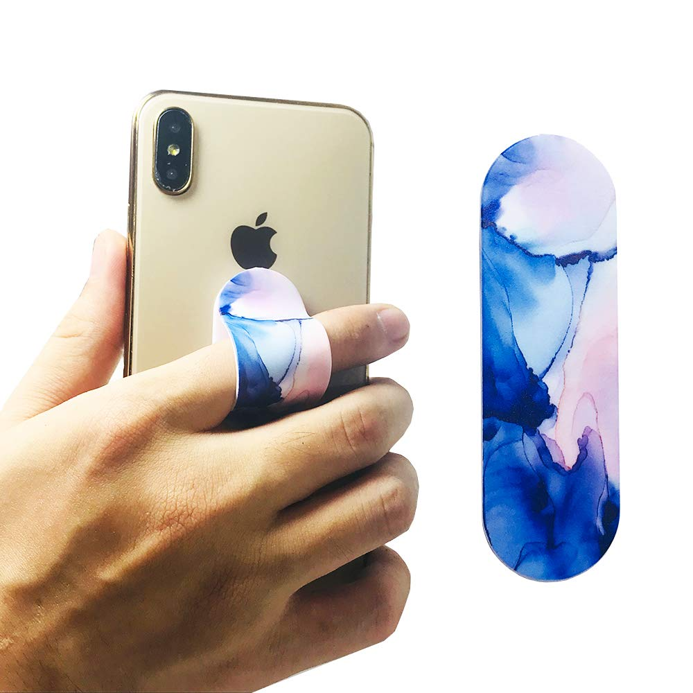 Phone Finger Grip Stand Car Vent Holder 3 in 1 Phone Bracket Smart Band Compatible with iPhone Xs Max XR 8 7 Plus Samsung Galaxy Smartphones Pink Marble