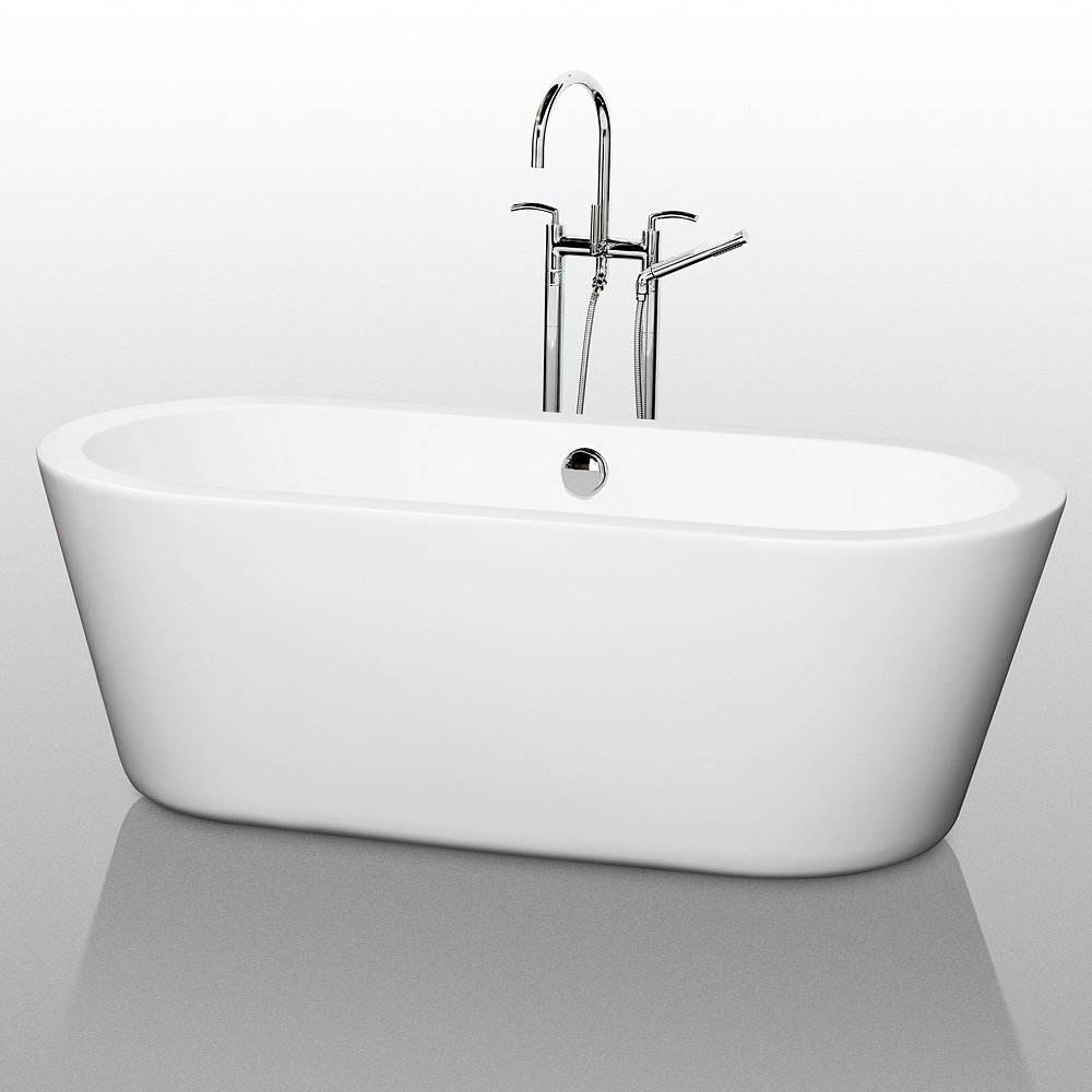 Wyndham Collection Mermaid 67 inch Freestanding Bathtub for ...