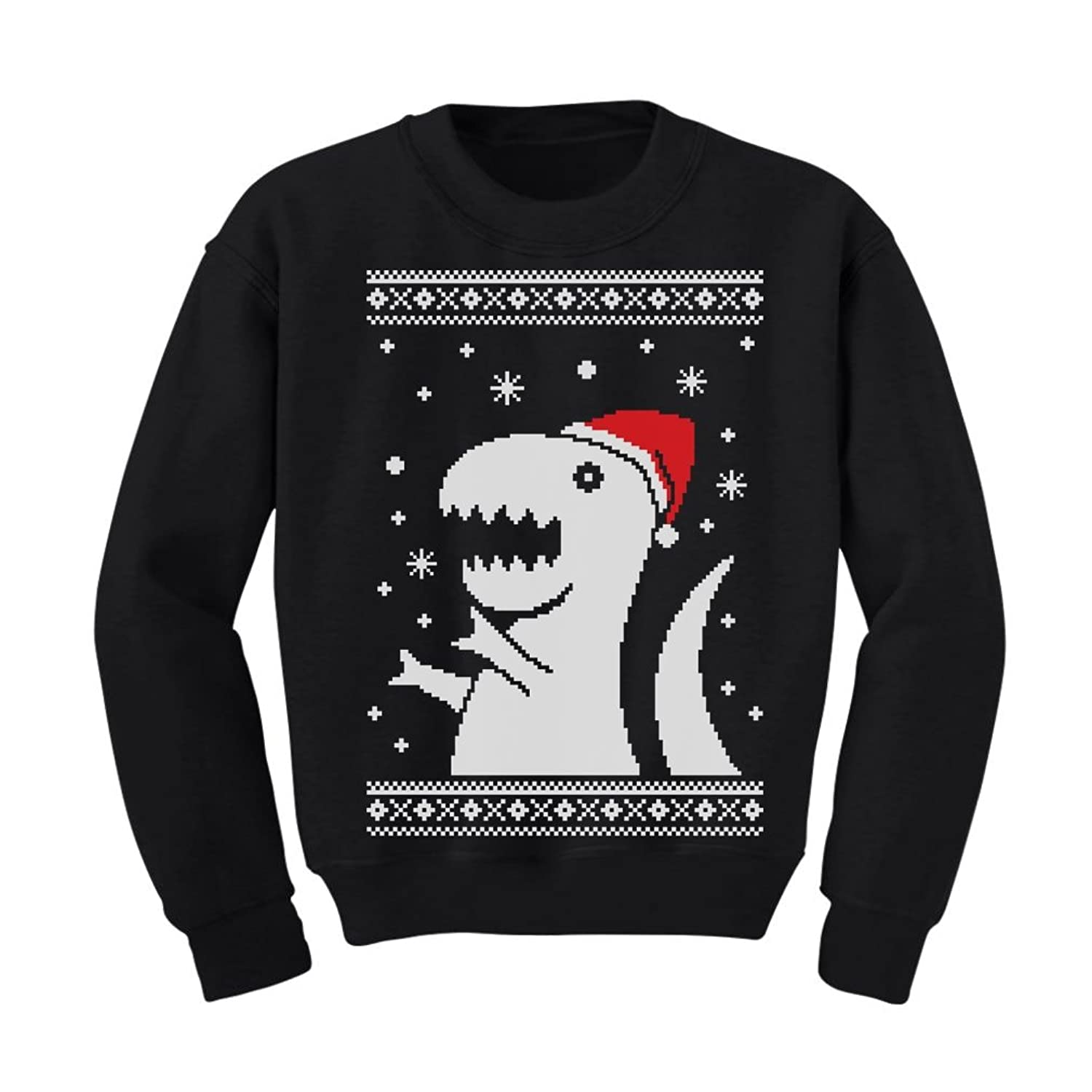 Amazon.com: Tstars Big Trex Santa Ugly Christmas Sweater - children ...