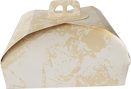 Kit de 50 cajas porta tartas rectangulares de cartón color oro varios tamaños para dulces tamaño (31 x 42 cm): Amazon.es: Hogar