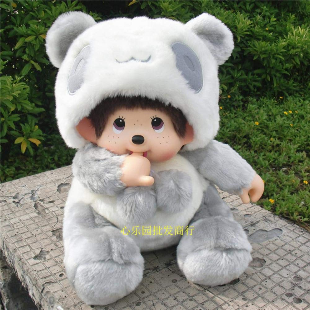 Panda  HUILIN Walker 80 Assis Poupée Catch Doll Doll Turning Dream Knock Peluche Jouet Enfant Poupée Cadeau, Point Bleu