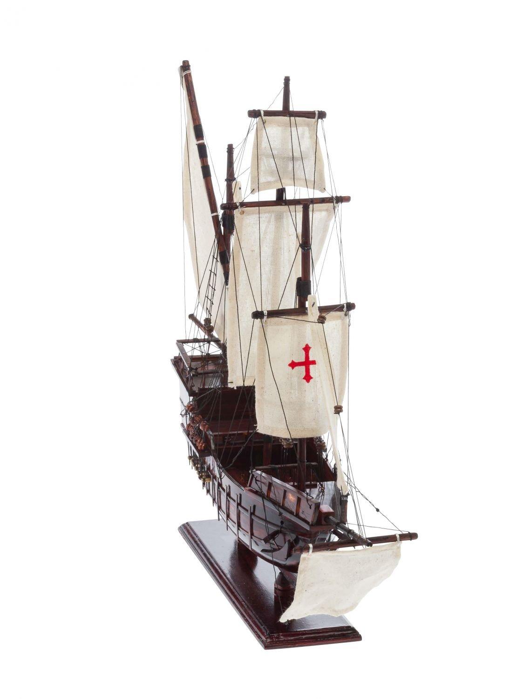 Modello di nave Santa Maria legno Columbus punta nave a vela caravella