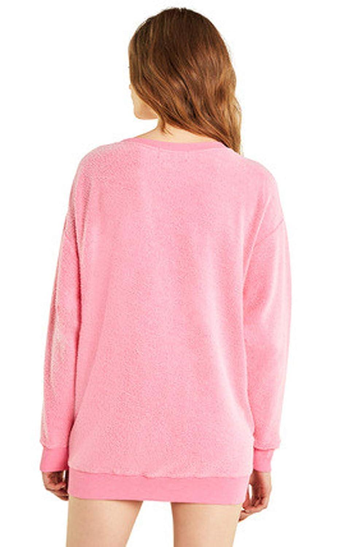 Wildfox Roadtrip Sweater Neon Magenta