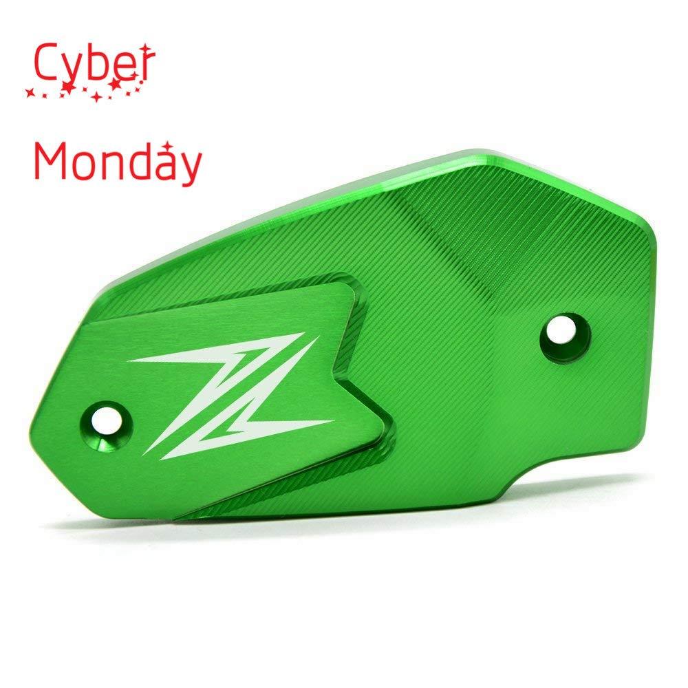 Motorcycle Front Brake Fluid Reservoir Bottle Cover Cap For Kawasaki Z900 Z650 2017-2018 Z800 2013-2016 ER6F ER6N ninja650 2009-2016 VERSYS650 2007-2017(Green) YUANQIAN