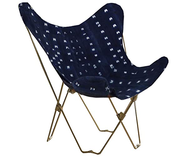 Midcentury Modern Indigo Butterfly Chair Cover