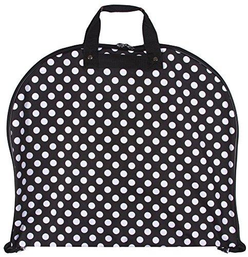 [Ever Moda Hanging Garment Bag, Black White Polka Dot (40-inch)] (Theatre Costume Closet)