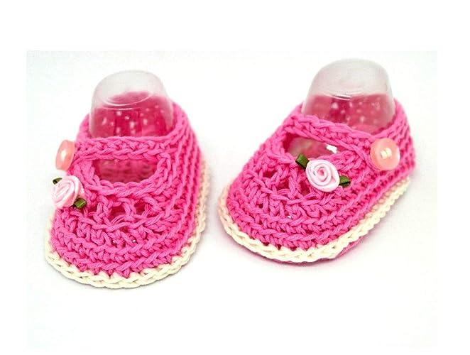 Botines para bebés, Zapatos de bebé de ganchillo, Zapatos Mary Jane, Zapatos de