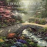 Books : Thomas Kinkade Gardens of Grace with Scripture 2020 Wall Calendar