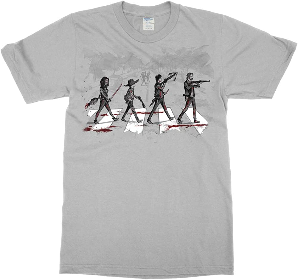 Tee No Evil Abbey Road Daryl Rick Michonne Carl Pudding Zombie Apocalypse Bloody T Shirt