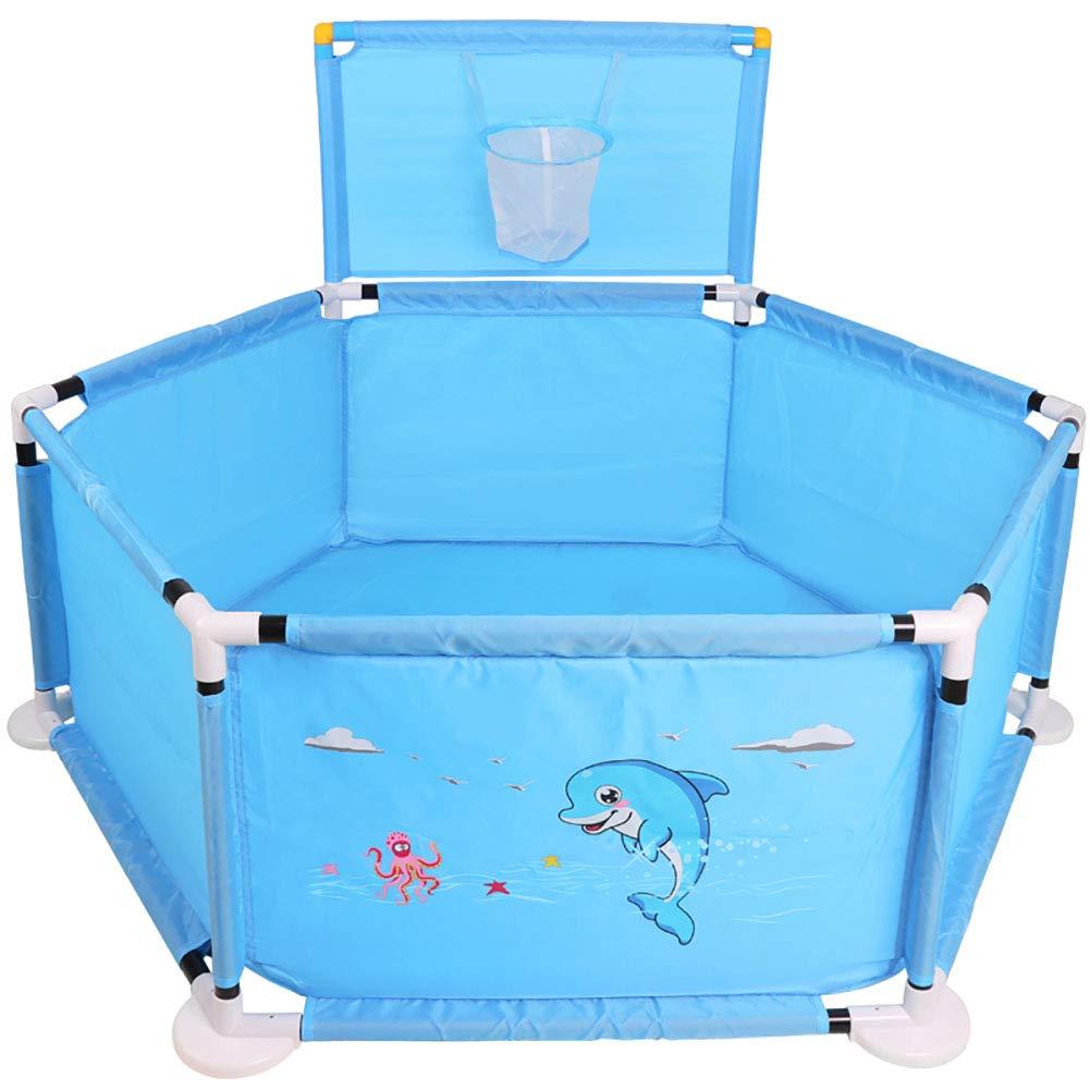 赤ちゃんの囲い ブルーセーフベビードルフィンベイビー遊びフェンス子供マリンボールプールフェンス (色 : 青)  青 B07JF57ZPM