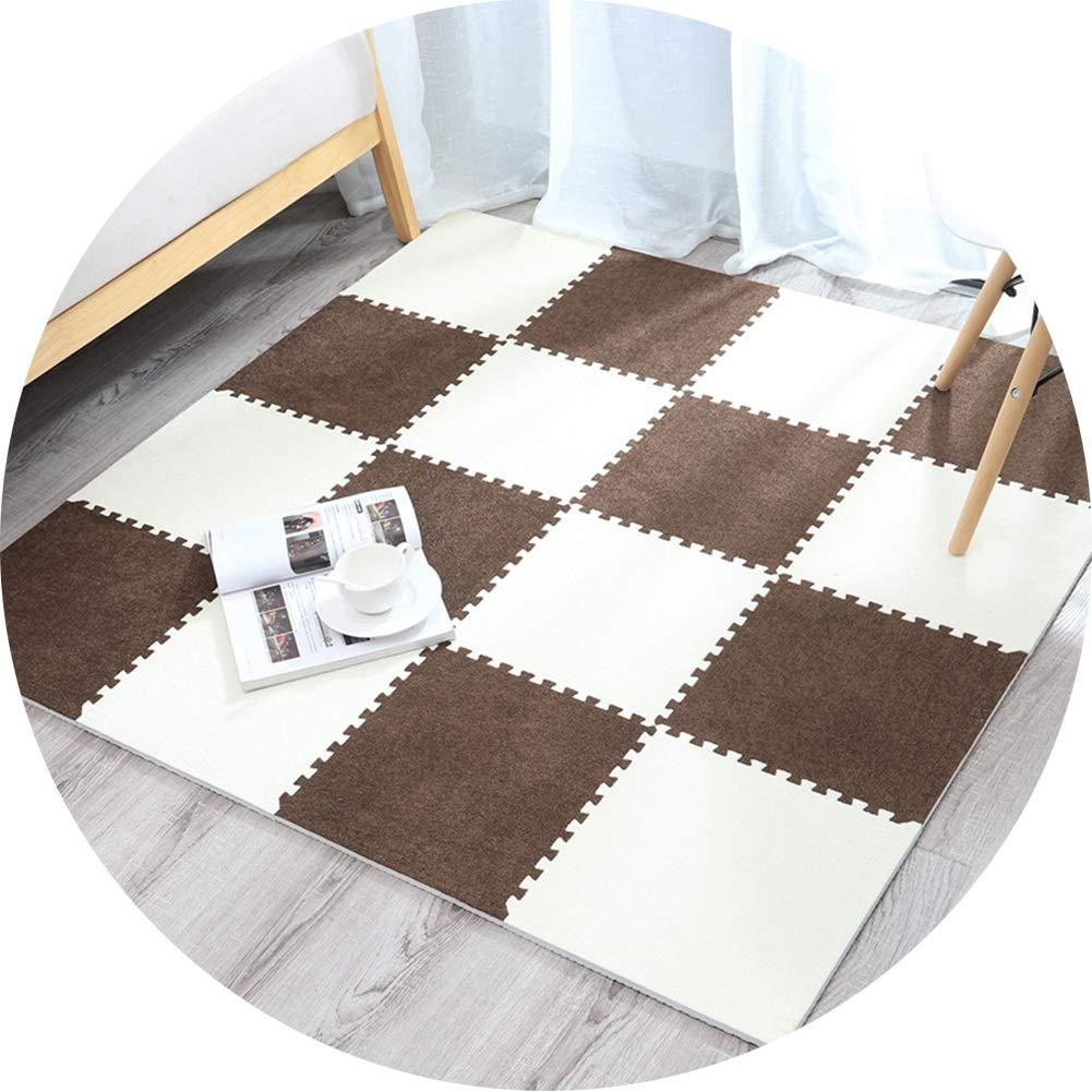 D 30X0.6cm-9 pieces LIQICAI-tapis Puzzle en Mousse Sol Enfant Et Bébé en Mousse Exterieur Intérieur Surface De Fibres Ultrafines Anti-Bruit MultiCouleure for Les Bébés Toddlers Enfants Babies Crawling