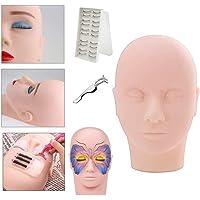 Oefen Oefenhoofd voor Make-up, MY SWEETY-oefenpop Cosmetology Mannequin Pop Gezichtshoofdwimpers, Massage, Make…