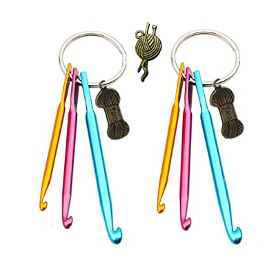 Aluminum Crochet Hook Key Chains