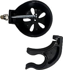 FabaCare Stockhalter Gehstockhalter, schwarz, für Weinberger 9269 Rollator, Halterung für Gehstock, Gehstockhalterung, Easy to Clean Spezialversiegelung