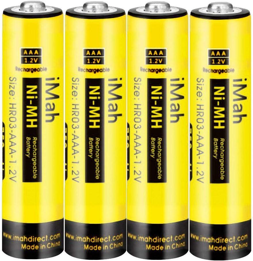 Pilar recargables  1.2V 550mAh AAA, HHR-55AAABU HHR-75AAA/B