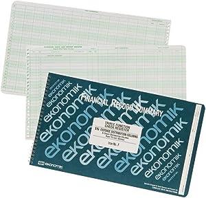 Ekonomik F Wirebound Form F Check Register with 5 Credit/15 Expense Columns, 8-3/4X14-3/4