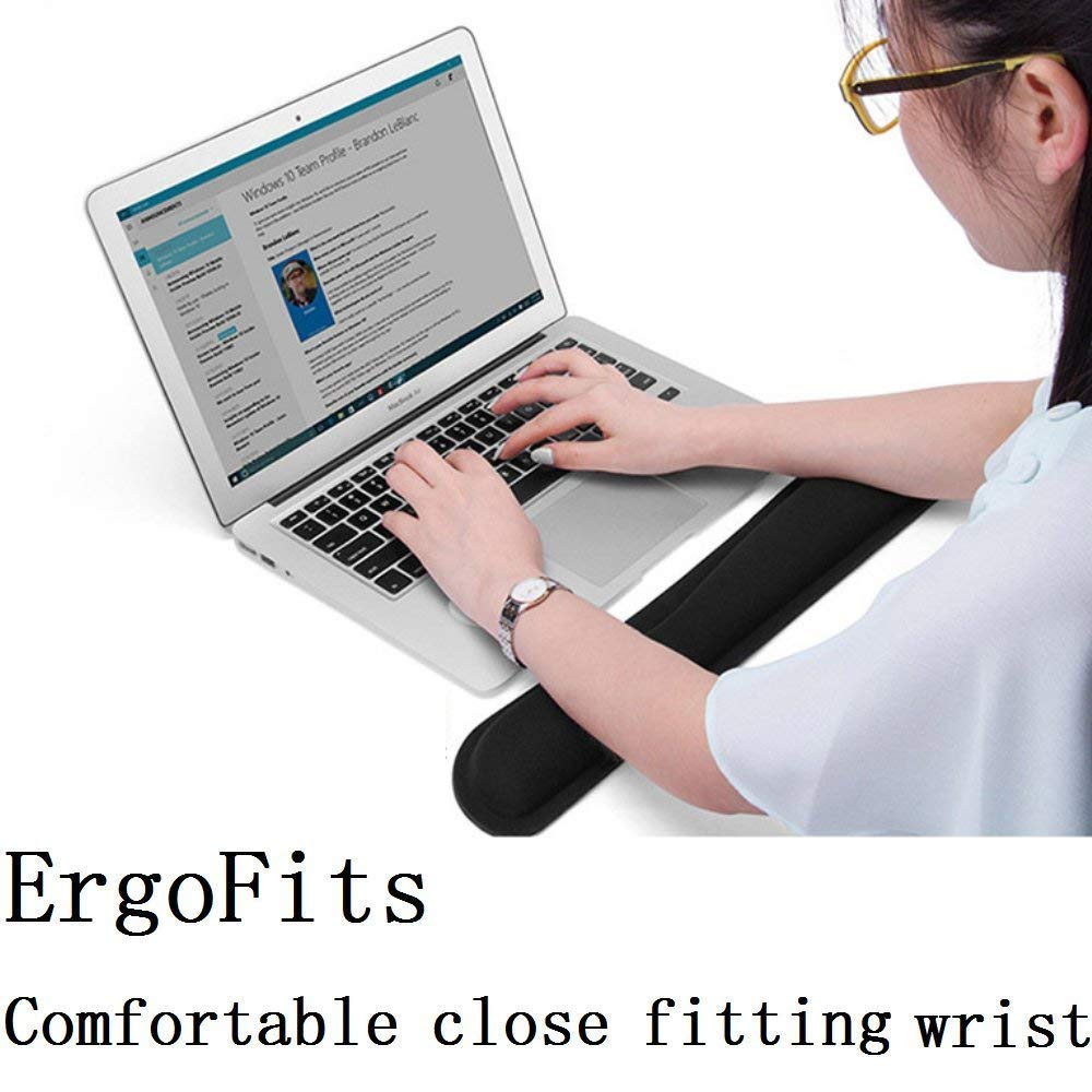 Resistente e antidolorifico Yojoloin Tappetino Mouse ergonomico per Ufficio Gaming Supporto per Polso in Gel Tappetino Mouse Pad Antiscivolo per Computer Portatile