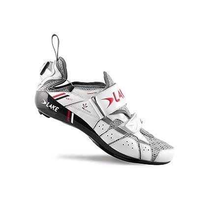 2015 Men's TX312 Triathlon Shoe w/Speedplay Sole (White/Red - 45)