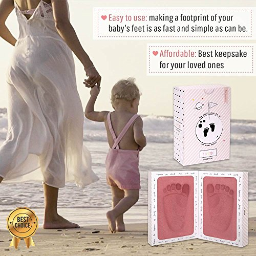 3D Baby Footprint Mold Keepsake Kit - Clean Healthy Foam Impression. Framed in Its Own Album. Perfect Baby Shower or Baby Registry Gift in Box for Girls and Boys w/Bonus eBook (Pink) by Ha&Da (Image #2)