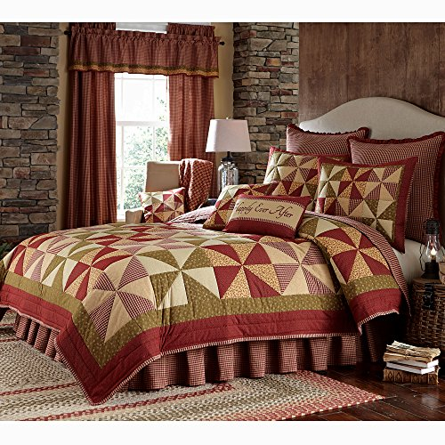 Park Designs Mill Village Queen Quilt Bundle - 3 Piece Set. Set Contents: 1 Queen Quilt, 2 Standard Shams