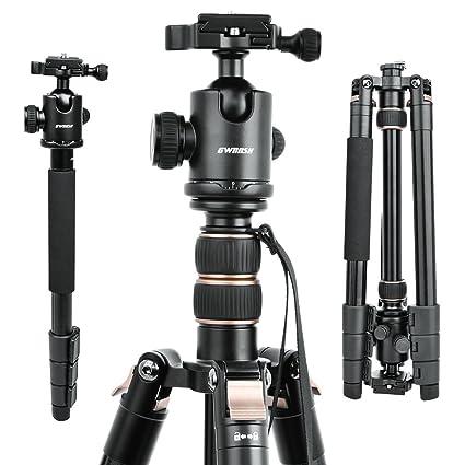 Amazon.com : GWNNSH 66\u0027\u0027 DSLR Tripod for Camera, 360 Camera tripod