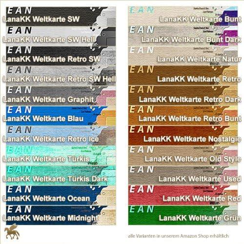 Lana Kk Leinwandbild Weltkarte Graphit In 60 X 40 Cm