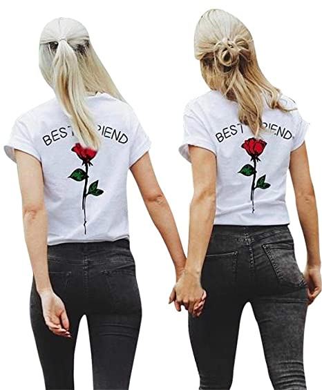 Mine Tom Minetom Casual Moda Nuevo Best Friends Camisetas Mujer Manga Corta Verano Informal T Shirt