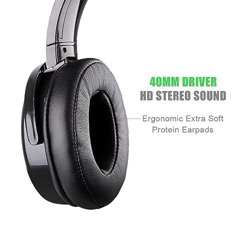 X DRAGON Auriculares Bluetooth con cancelación de Ruido Activa, con Cable y Auriculares inalámbricos con micrófono, Alta fidelidad, Graves