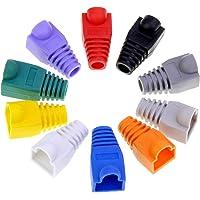 HSEAMALL 100 st RJ45 stövelskydd, Ethernet-krimpanslutningsmössa, mjuk plast Ethernet-kontakt, RJ45 kabeländar…